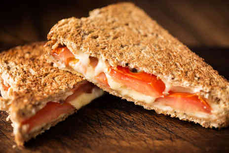 Delicious Baps - Toastie with Hot Drink Each for Two  - Save 52%