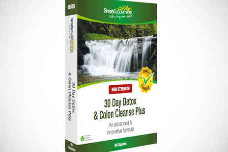 Supplement Savvy - 30 Day Detox & Colon Cleanse Plus Delivery Inc - Save 50%