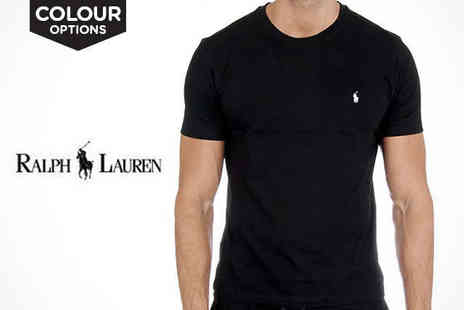 Brands Village  - Ralph Lauren Crew Mens T-Shirt in Choice of Colour and Size - Save 45%