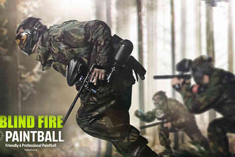 Blind fire paintball - Group Paintballing Lunch, Equipment and Paintballs included - Save 0%