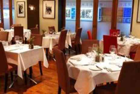 Cafe Des Amis - Two courses and wine for two - Save 65%