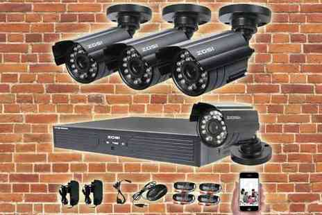 Euro Field - 4CH CCTV Outdoor Home Surveillance System - Save 43%