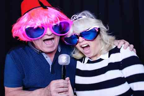 Quick Snap Booths - Three Hour Photobooth Hire With Online Gallery, Prints and Props - Save 49%