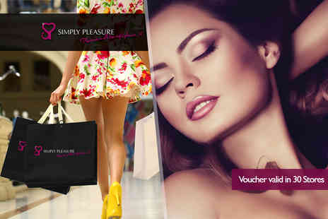 Simply Pleasure - £30 voucher to spend in store  - Save 50%