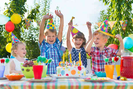 Party Tyme - kids summer party package for up to 15 - Save 51%
