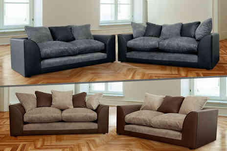 Abakus Direct - Dylan two and three seater sofa set  - Save 61%