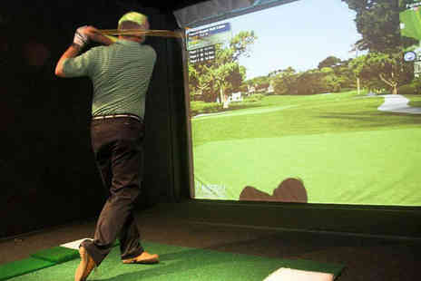 The Golf Lounge - Hour Long Golf Simulator Session for Four with Burger, Potato Wedges, and Salad Each - Save 57%