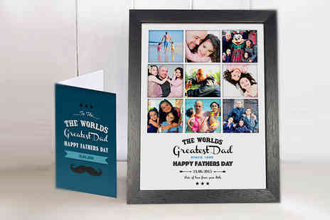 Treasure On The Wall - A4 Worlds Greatest Dad Photo Collage with Card - Save 66%