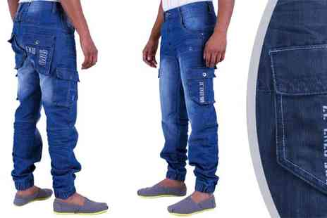Raw Indigo - Choice of Mens Designer Enzo Jogger Jeans - Save 21%