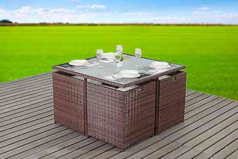 EVRE - Four or Six Cube Rattan Dining Set - Save 70%