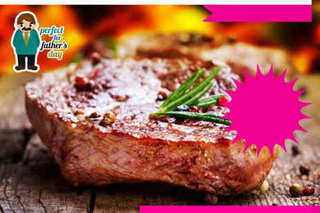 Experify - Steak dinner and wine for two   - Save 49%