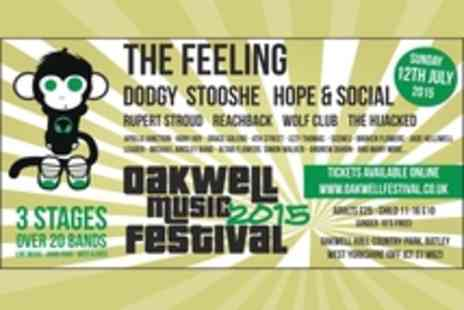 Oakwell Festival - Tickets to Oakwell Music Festival, Featuring The Feeling - Save 16%