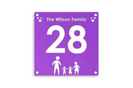UK Sign Shop - Personalised Family House Sign With Free Delivery - Save 48%