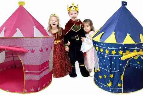 Premier Housewares  - Castle Play Tent in Blue or Pink - Save 40%