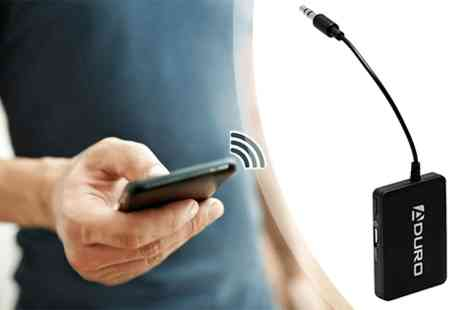 Mobile Star LLC - Aduro Bluetooth wireless audio receiver for 3.5 mm devices  - Save 75%