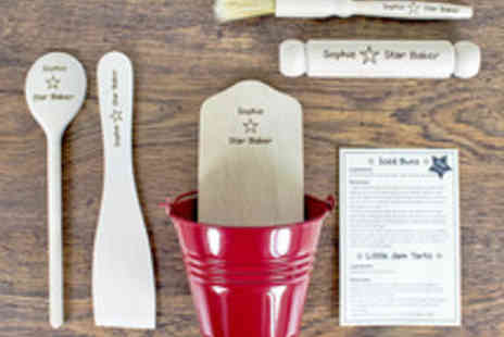 Treat Republic - Personalised Star Baker Kitchen Cooking Utensil Set for Kids - Save 44%