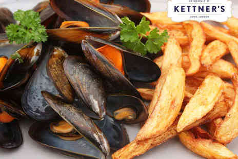 Kettners - Moules Frites with a Glass of Champagne Each for Two - Save 44%