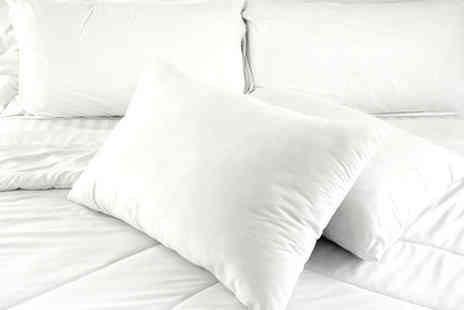 RZK Textiles  - Pack of Four Super Bounce Back Soft/Medium Pillows - Save 69%