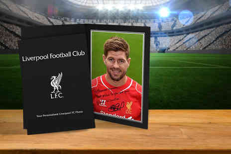 UR in the Paper - Personalised autographed football player photograph in a presentation folder - Save 54%