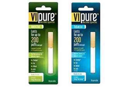 Ebeez.co.uk - Two VI Pure Disposable E Cigarettes With Free Delivery - Save 70%