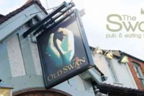 The Swan Pub - Two Courses of British Fare For Two With Coffee - Save 61%