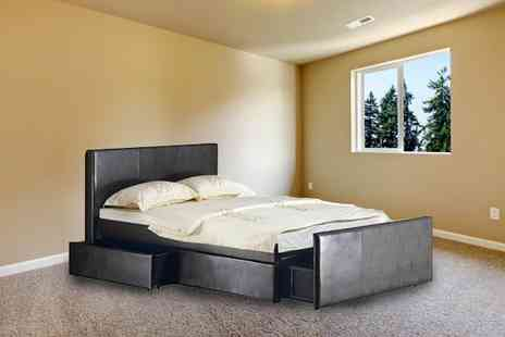 Panoply Furnishings - Three Drawer Storage Bed with Optional Mattress - Save 24%