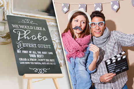 Bliss Booth - Two hours of photobooth hire included unlimited prints, booth attendants, props & more - Save 40%