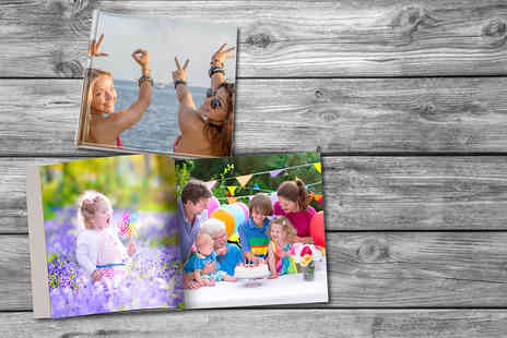 "Dip Into Sales - Hard cover square 8"" x 8"" photo book - Save 72%"