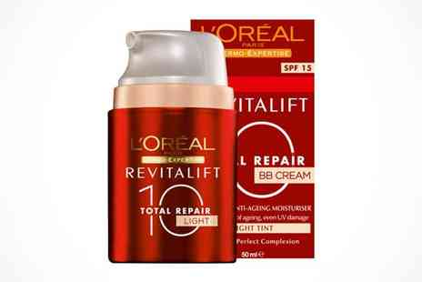 NiftySpot - LOreal Revitalift Total Repair BB Cream Light or Medium - Save 47%