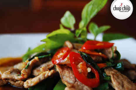 Chop Chop Noodle & Salad Bar - Eat In or Takeaway Oriental Main Course for Two with Appetiser and Bottle of Water Each - Save 59%