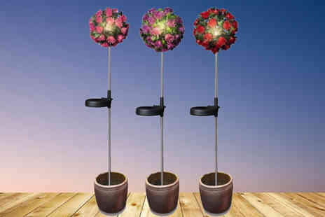 All Boxed Up - Two Garden Solar Rose Balls - Save 85%