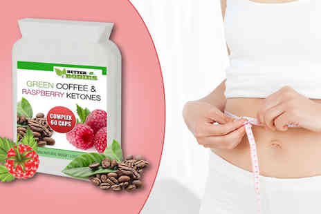 BioNutricals - Raspberry Ketone & Green Coffee Capsules - Save 80%