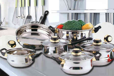 De Opera - 12pc Stainless Steel Cookware Set - Save 64%