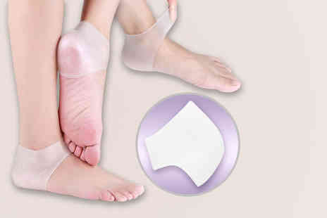 Treasure Chest Innovations  - Pair of silicone gel heel and ankle supports  - Save 50%