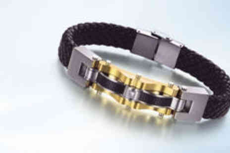 Hulbury - Mens stainless steel Maximus bracelet  plus delivery - Save 0%