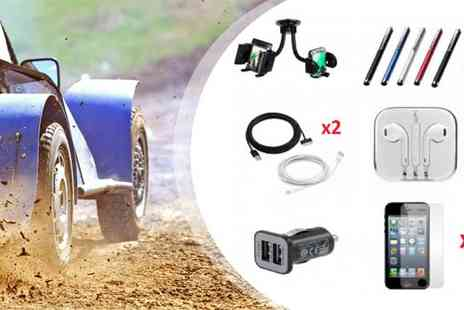 Bibi International - 10 in 1 Twin iPhone Car Accessories Kit - Save 76%