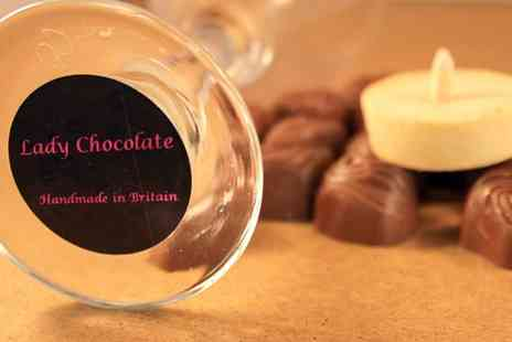 Lady Chocolate - Artisan Pralines & Wine Glass Gift Set - Save 60%