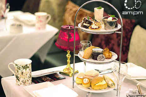 AM PM - Afternoon Tea with a Glass of Bubbly Each for Two - Save 48%