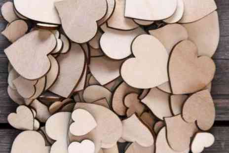 iThinkGadgets  - 50 Plywood Hearts  - Save 79%