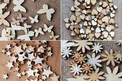 iThinkGadgets - Miscellaneous Wooden Decorating Shapes  - Save 64%