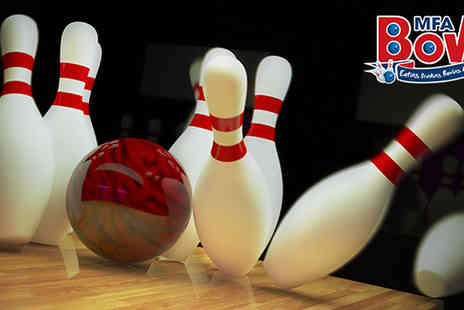 MFA Bowl - Two Games of Bowling for Four - Save 58%
