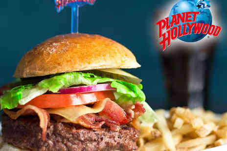 Planet Hollywood - Three Course Meal for Two with Wine or Beer - Save 50%