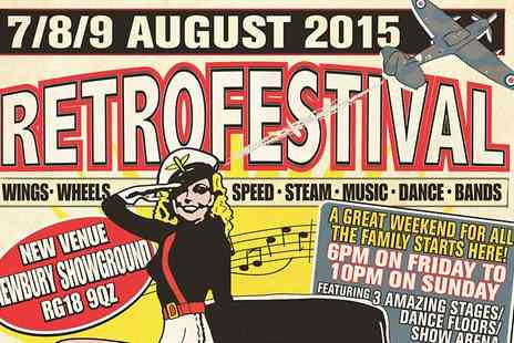Retro Festival - Retro Festival Child or Adult  Day Pass or Weekend Pass  - Save 0%