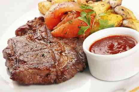 New York Grand Cafe and Grill - Steak Meal and Dessert For Two  - Save 0%