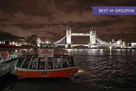 City Cruises - London Showboat Cruise With Four Course Dinner For Two - Save 50%