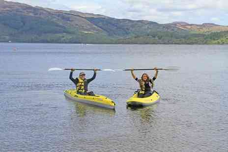 Loch Lomond Leisure Scotland - Paddleboard or kayak experience for one or twin or triple kayak experience - Save 48%