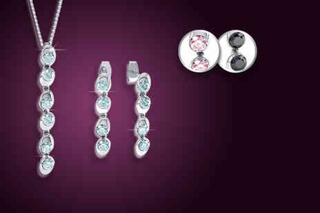 Rocks of London -  Solitaire Duo Drop Set with Swarovski Elements - Save 91%