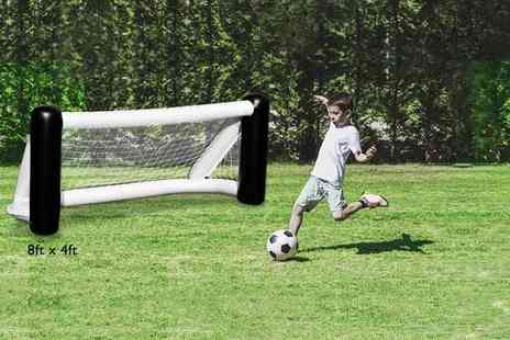 Debut Drive - 8ft x 4ft inflatable football goal - Save 0%