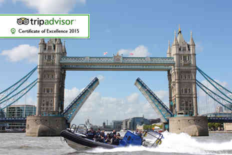 RIB Tours London - 25 minute RIB boat thrill ride tour along the Thames for 1  - Save 0%