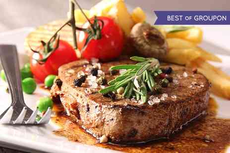 The William B - Two Course Flat Iron Steak Meal With Prosecco For Two - Save 49%